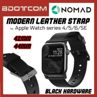 Nomad Black Modern Leather Strap 42mm / 44mm Black Hardware for Apple Watch series 4 / Series 5 / Series 6 / SE