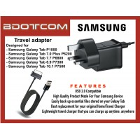Samsung Power Adapter Travel Charger with Sync and Charge Cable for Samsung Galaxy Tab P1000, Tab 7.0 Plus, P6200, Tab 7.7 P6800, Tab 8.9 P7300, Tab 10.1 P7500
