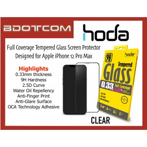 Original HODA 0.33mm 2.5D 9H Full Coverage Tempered Glass Screen Protector for Apple iPhone 12 Pro Max (CLEAR)