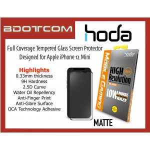 Original HODA 0.33mm 2.5D 9H Full Coverage Tempered Glass Screen Protector for Apple iPhone 12 Mini (MATTE)