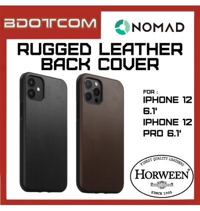 Apple iPhone 12 / 12 Pro 6.1' Nomad Rugged Horween Leather Back Cover