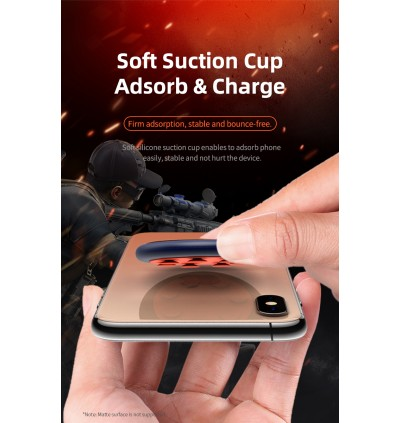 Rock W24 Double Side 15W Quick Charge Wireless Charger with Suction Cup for Samsung / Apple / Xiaomi / Huawei / Oppo / Vivo