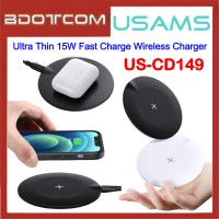 USAMS US-CD149 Ultra Thin 15W Fast Charge Wireless Charger for Samsung / Apple / Xiaomi / Huawei / Oppo / Vivo