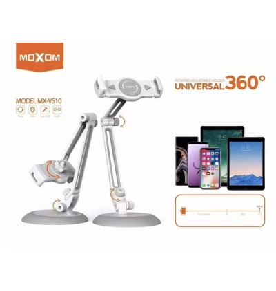 Moxom MX-VS10 Universal 360' Desktop Stand Phone Holder for Mobile Phone and Tablet / Samsung / Apple / Huawei / Xiaomi / Oppo / Vivo / Realme / OnePlus
