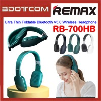 Remax RB-700HB Ultra Thin Foldable Bluetooth V5.0 Wireless Headphone for Samsung / Apple / Xiaomi / Huawei / Oppo / Vivo / Realme / OnePlus