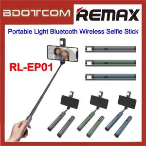 Remax Life RL-EP01 Portable Light Bluetooth Wireless Selfie Stick for Samsung / Apple / Xiaomi / Huawei / Oppo / Vivo / Realme / OnePlus
