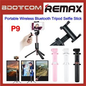 Remax P9 Portable Wireless Bluetooth Tripod Selfie Stick with Bluetooth Remote Controller for Samsung / Apple / Xiaomi / Huawei / Oppo / Vivo / Realme / OnePlus