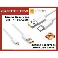 Realme SuperVooc Fast Charging Cable Micro USB / USB TYPE-C for Realme X3, Realm C3, Realm C11, Realm C15, Realme 6i, Realme 7i