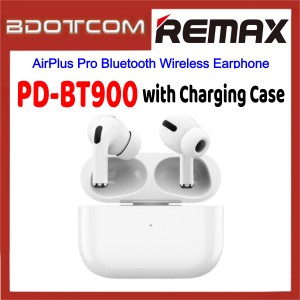Remax PD-BT900 AirPlus Pro Bluetooth Wireless Earphone with Charging Case for Samsung / Apple / Xiaomi / Huawei / Oppo / Vivo / Realme / OnePlus