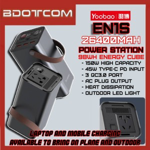 Yoobao EN1S 26400mAh 220V / 98Wh Energy Cube 45W Type-C PD + QC3.0 + AC Plug Quick Charge Power Station