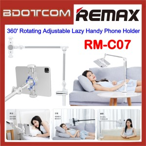 Remax RM-C07 360' Rotating Adjustable Lazy Handy Phone Holder for 5' - 13' Devices / Tablet / Smartphone / Samsung / Apple / Xiaomi / Huawei / Oppo / Vivo / Realme / OnePlus