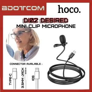 Hoco DI02 Desired series 3.5mm Audio Jack / Type-C / Lightning Wired Mini Clip Microphone