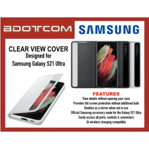 Original Samsung Smart Clear View Cover for Samsung Galaxy S21 Ultra