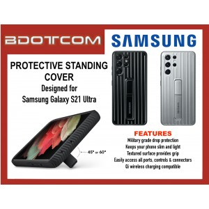 Original Samsung Protective Standing Cover Case for Samsung Galaxy S21 Ultra