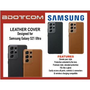 Original Samsung Leather Cover for Samsung Galaxy S21 Ultra
