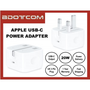 Apple 20W USB-C Power Adapter Charger for Apple iPhone 12 Pro Max, 11 Pro Max, Xs, XR, iPhone 8, 8 Plus, iPhone 7, 7 Plus, iPad Pro 12.9 3rd Gen, iPad Air 3 10.5, iPod Touch 6th Gen