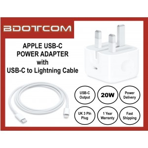 Apple 20W USB-C Power Adapter Charger with USB TYPE-C to Lightning Cable for Apple iPhone 12 Pro Max, 11 Pro Max, Xs, XR, iPhone 8, 8 Plus, iPhone 7, 7 Plus, iPad Pro 12.9 3rd Gen, iPad Air 3 10.5, iPod Touch 6th Gen