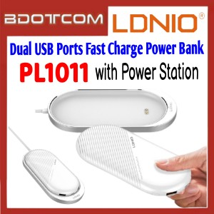 LDNIO PL1011 Dual USB Ports 10000mAh Fast ChargePower Bank with Power Station for Samsung / Apple / Xiaomi / Huawei / Oppo / Vivo / Realme / OnePlus