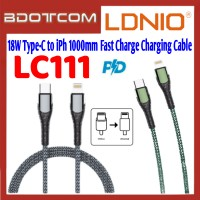 LDNIO LC111 PD 18W Type-C to Lightning 1000mm Fast Charge Charging Cable for iPhone 11 / iPhone 11 Pro / 11 iPhone Pro / iPhone 12 Mini / iPhone 12 / iPhone 12 Pro / iPhone 12 Pro Max