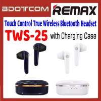 Rems TWS-25 Touch Control True Wireless Bluetooth Headset with Charging Case for Samsung / Apple / Xiaomi / Huawei / Oppo / Vivo / Realme / OnePlus