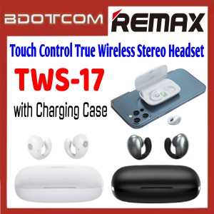 Remax TWS-17 Touch Control True Wireless Stereo Bluetooth Headset with Charging Case for Samsung / Apple / Xiaomi / Huawei / Oppo / Vivo / Realme / OnePlus