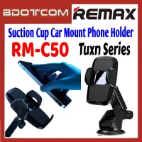 Remax RM-C50 Tuxn Series Suction Cup Car Mount Phone Holder for Samsung / Apple / Xiaomi / Huawei / Oppo / Vivo / Realme / OnePlus