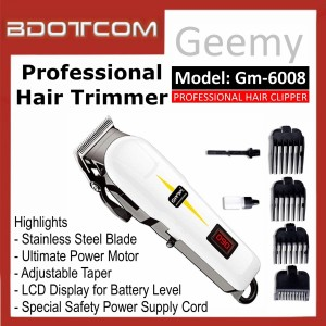 [READY STOCK] GEEMY GM-6008 Professional Rechargeable Cordless Hair Trimmer, Hair Clipper, Hair Shaver, Hair Groomer, Hair Cutter for Men, Women, Boy, Lady, Kid, Child, Senior Citizen and anyone else