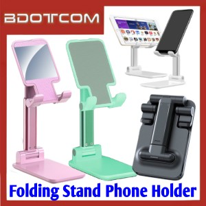 [ Ready Stock ] Adjustable Folding Desktop Phone Holder Stand for Smartphone / Tablet / Samsung / Apple / Xiaomi / Huawei / Oppo / Vivo / Realme / OnePlus