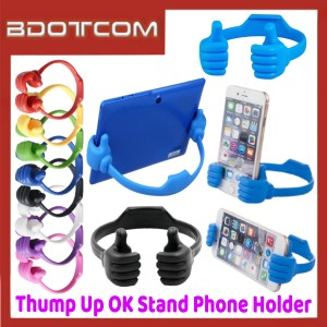 [ Ready Stock ] Thump Up OK Flexible Stand Phone Holder for Smartphone / Mobile Phone / Tablet / Samsung / Apple / Xiaomi / Huawei / Oppo / Vivo / Realme / OnePlus