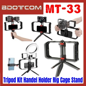 [ Ready Stock ] JMary MT-33 Tripod Kit Handel Phone Holder Rig Cage Stand for Smartphone / Camera / Samsung / Apple / Xiaomi / Huawei / Oppo / Vivo / Realme / OnePlus