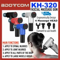 [READY STOCK] High Quality KH-320 Fascial Massage Gun Deep Tissue Muscle Masseur for Body Relaxation, Pain Relief, Body Shaping and Slimming suitable for Athletes, Body Builders, Cyclists, Swimmers, Runners, and others