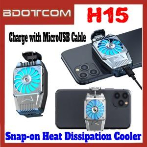 [ Ready Stock ] H15 Radiator Fan Mini Snap-on Heat Dissipation Cooler for Samsung / Apple / Xiaomi / Huawei / Oppo / Vivo / Realme / OnePlus