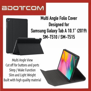 """High Quality Multi Angle Folio Cover with Sleep Wake Function compatible with Samsung Galaxy Tab A 10.1"""" (2019) SM-T515"""