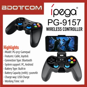 [READY STOCK] iPega PG-9157 Wireless Gaming Controller Mobile Intelligent Network Gamepad compatible with Android Smartphones, Smart TV, Windows PC and etc