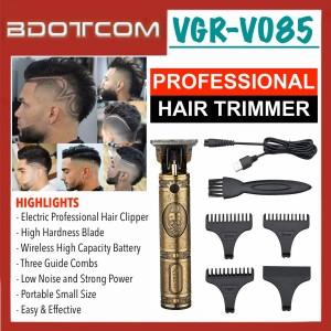 [READY STOCK] VGR V085 Professional Rechargeable Cordless Hair Trimmer, Hair Clipper, Hair Cutter, Beard Shaver, Mesin Gunting Rambut for Men, Women, Boy, Lady, Kid, Child, Senior Citizen and anyone else