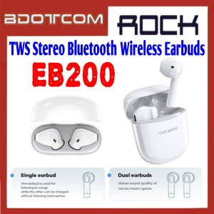 Rock Space EB200 TWS Stereo Bluetooth Wireless Earbuds with Charging Case for Samsung / Huawei / Xiaomi / Oppo / Vivo / Realme / OnePlus