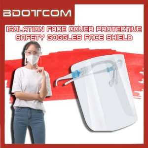 [READY STOCK] Transparent Full Face Cover Protective Isolation Safety Goggles Anti Spray Plastic Mask Face Shield