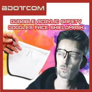 [READY STOCK] Transparent Face Cover Safety Goggles Anti Spray Plastic Mask Face Shield