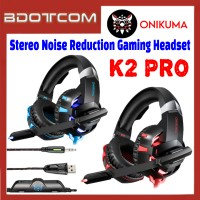 Onikuma K2 Pro Stereo Noise Reduction 3.5mm Audio Jack Gaming Headset with Microphone for PC / Laptop / Desktop PC / Samsung / Huawei / Oppo / Vivo / Realme / OnePlus