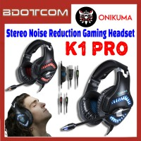 Onikuma K1 Pro Stereo Sound Noise Reduction 3.5mm Audio Jack Gaming Headset with Microphone for PC / Laptop / Desktop PC / Samsung / Huawei / Oppo / Vivo / Realme / OnePlus