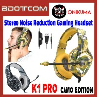 Onikuma K1 Pro Camo Edition Stereo Sound Noise Reduction 3.5mm Audio Jack Gaming Headset with Microphone for PC / Laptop / Desktop PC / Samsung / Huawei / Oppo / Vivo / Realme / OnePlus