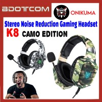 Onikuma K8 Camo Edition LED Stereo Noise Reduction 3.5mm Audio Jack Gaming Headset with Microphone for PC / Laptop / Desktop PC / Samsung / Huawei / Oppo / Vivo / Realme / OnePlus