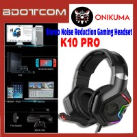 Onikuma K10 Pro RGB LED Light Stereo Noise Reduction 3.5mm Audio Jack Gaming Headset with Microphone for PC / Laptop / Desktop PC / Samsung / Huawei / Oppo / Vivo / Realme / OnePlus