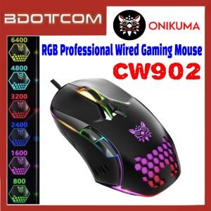 Onikuma CW902 RGB Professional Wired Gaming Mouse for Computer / GamePlay / Laptop / Desktop PC / Samsung / Xiaomi / Huawei / Oppo / Vivo / Realme / OnePlus