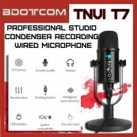[Ready Stock] TNVI T7 Professional Studio Condenser Recording Wired Microphone With ECHO Volume Stand