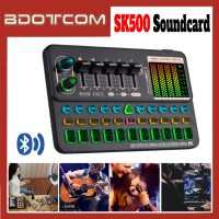 [Ready Stock] SK500 Audio Mixer Bluetooth USB Headset Microphone Webcast Live Sound Card for Live Streaming / Sing Studio Recording / Smartphone / Mobile Phone / PC / Laptop / Desktop Computer