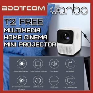 [Ready Stock] Xiaomi Mi Wanbo T2 FREE Multimedia Portable Pico Smart LCD Home Cinema Mini Projector
