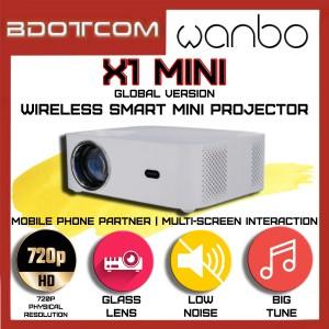[Ready Stock] Xiaomi Mi Wanbo X1 Mini Global version 4K Wireless Smart LCD Home Cinema Mini Projector