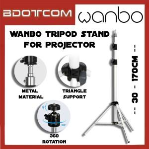 [Ready Stock] Xiaomi Mi Wanbo 360' / 30 - 170cm Universal Tripod Stand for Wanbo T2 Free / T2 Max / X1 Mini / Other Projector