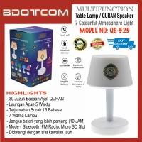 [READY STOCK] High Quality QS-525 Multifunction LED Table Lamp Bluetooth QURAN Speaker with Micro SD Slot and FM Radio dengan Laungan Azan 5 waktu, Bacaan QURAN dan terjemahan, Surah, ZIKIR, RUQYAH, Asmaul Husna